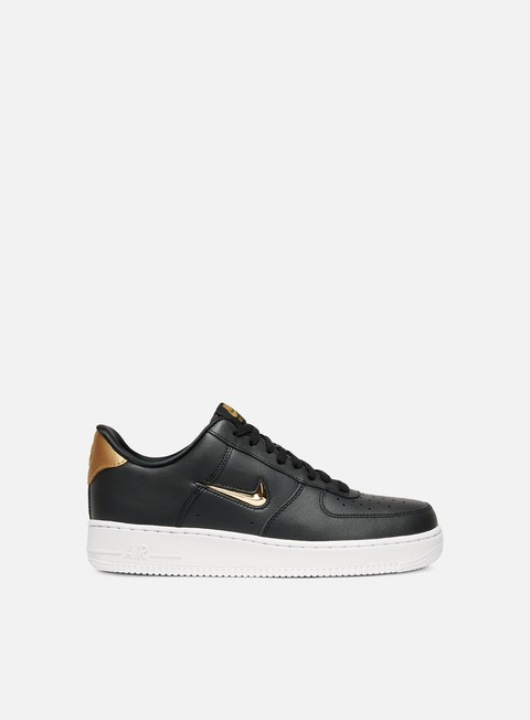 sneakers nike air force 1 07 lv8 lthr black metallic gold white