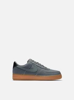 Nike - Air Force 1 07 LV8 Style, Flat Pewter/Flat Pewter/Black/Gum Medium Brown