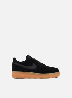 Nike - Air Force 1 07 LV8 Suede, Black/Black/Gum Medium Brown 1