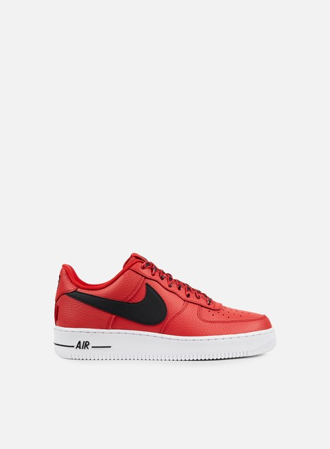 sneakers nike air force 1 07 lv8 university red black white