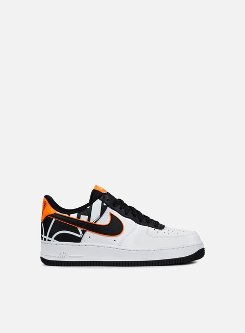 sneakers nike air force 1 07 lv8 white black total orange