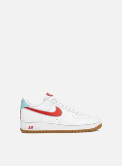 Nike - Air Force 1 07 LV8, White/Chile Red/Glacier Ice