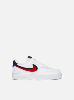 Nike - Air Force 1 07 LV8, White/University Red/Blue Void