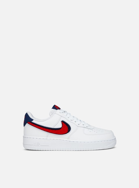 sneakers nike air force 1 07 lv8 white university red blue void