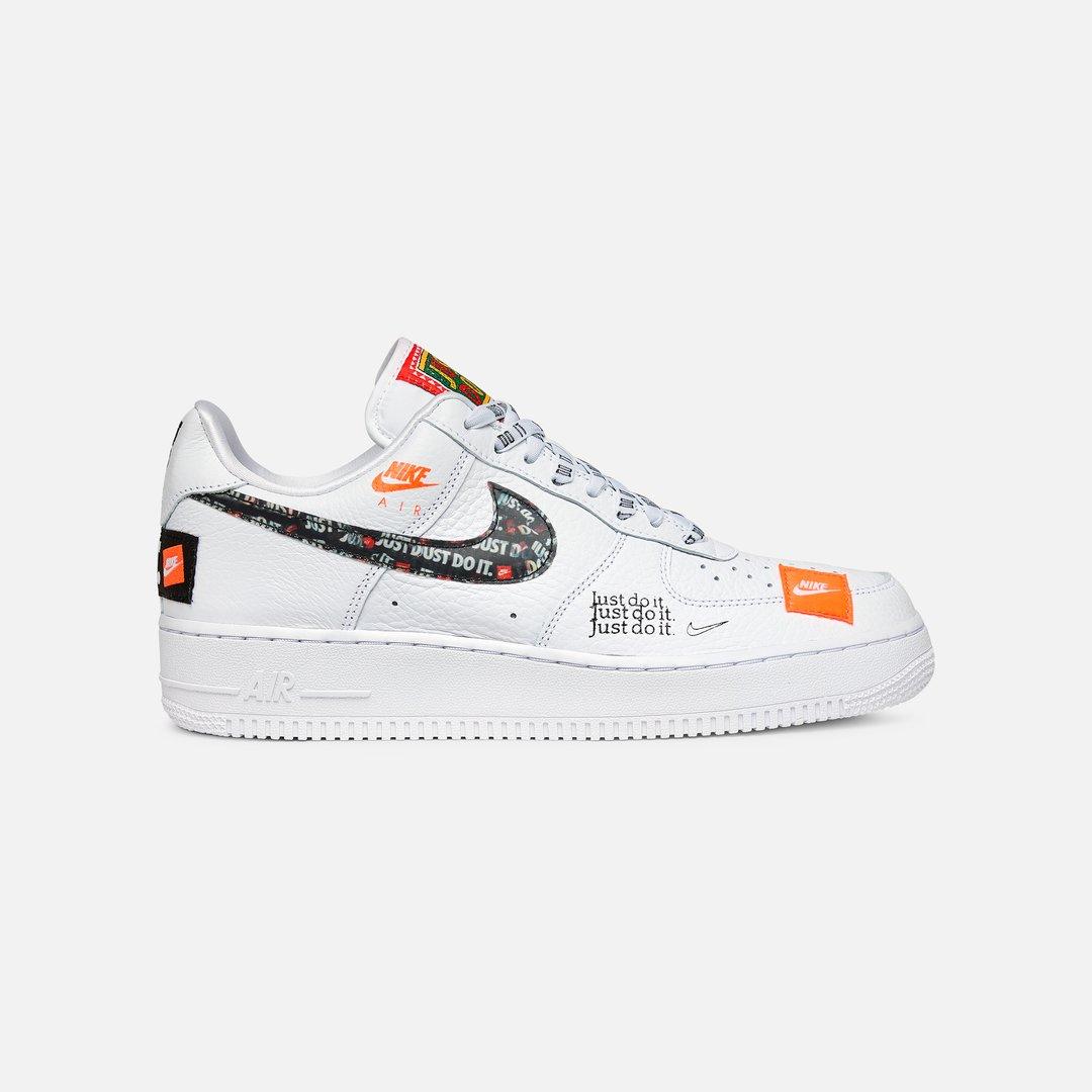 Nike Air Force 1 07 PRM JDI Uomo, White White Black Total Orange ...