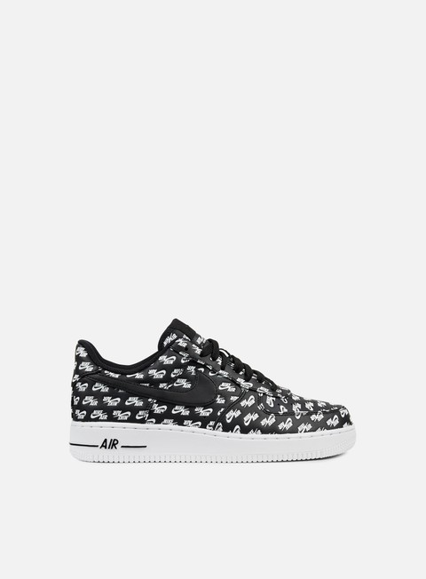 07 Qs Uomo nero [Black Black White] Nike Air Force One Alte