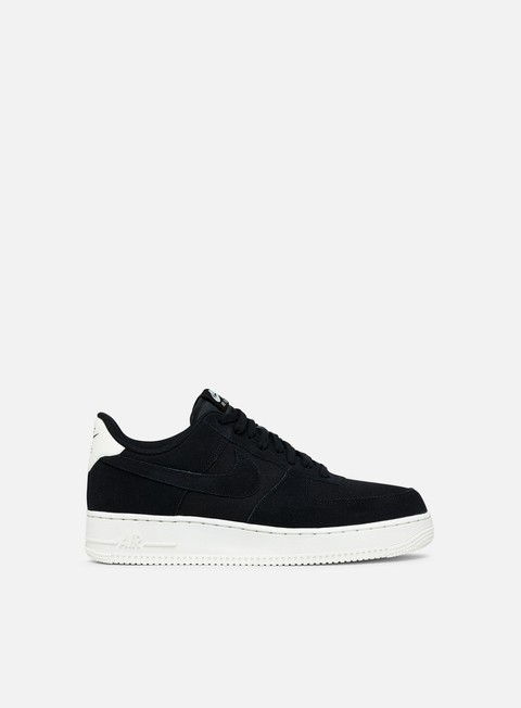 sneakers nike air force 1 07 suede black black sail