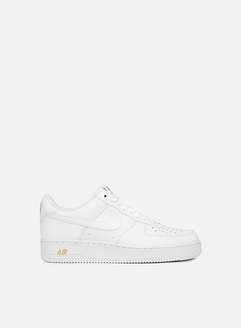 sneakers nike air force 1 07 white white metallic gold