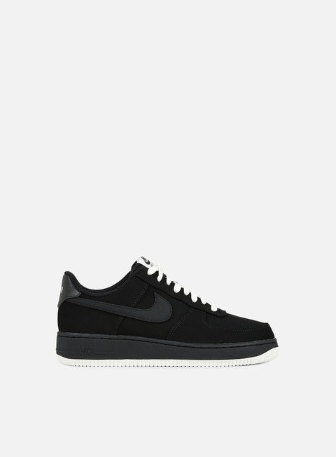 sneakers nike air force 1 black black sail