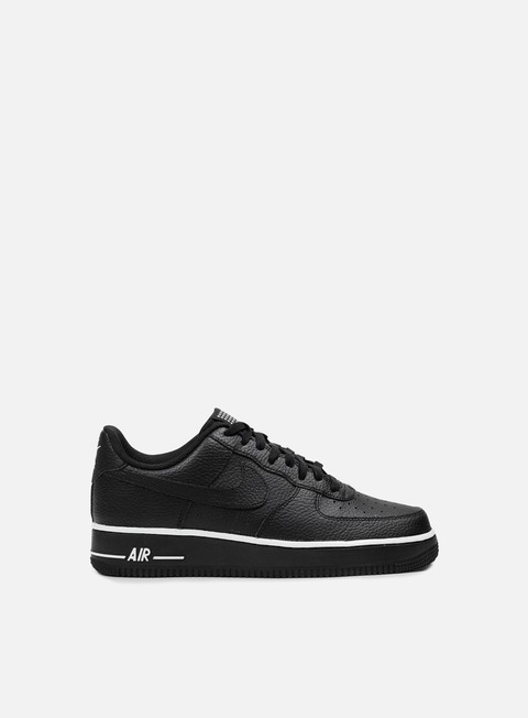 sneakers nike air force 1 black black white