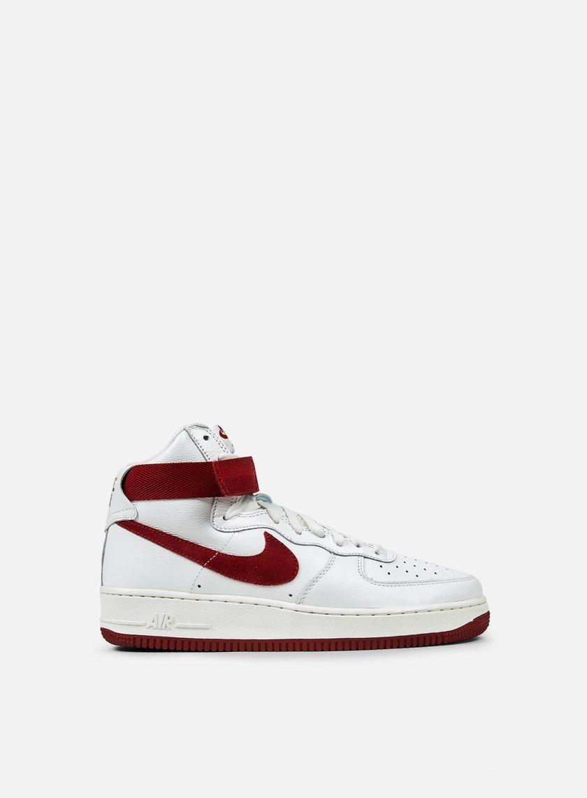 Nike - Air Force 1 Hi Retro QS, Summit White/Team Red