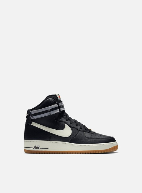 sneakers nike air force 1 high 07 black sail wolf grey