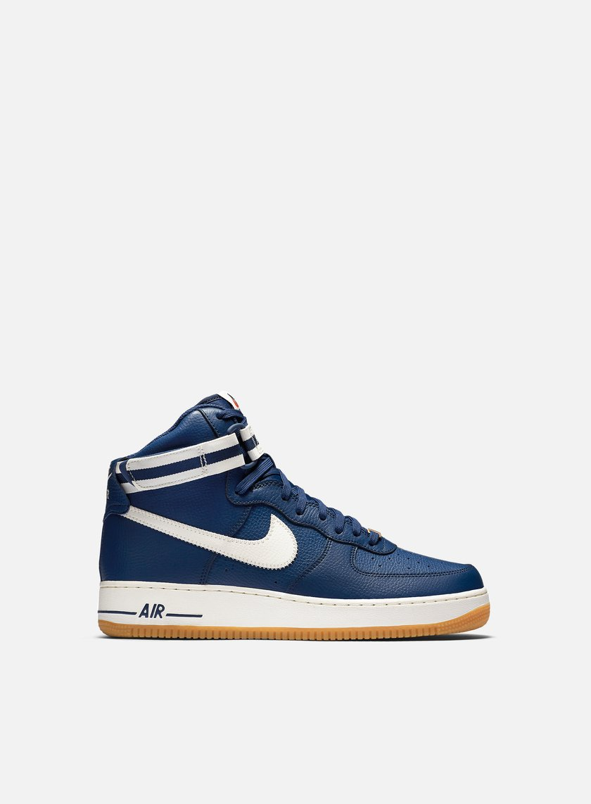 Buy All Blue Nike Air Force 1 07 High Top Up To 75 Discounts