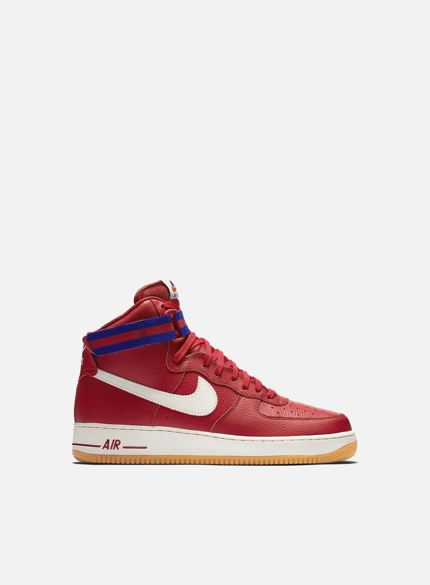 Nike - Air Force 1 High 07, Gym Red/Sail/Deep Royal Blue