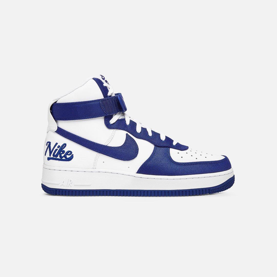Nike Air Force 1 High 07 LV8 EMB Men, White Rush Blue Rush Blue ...