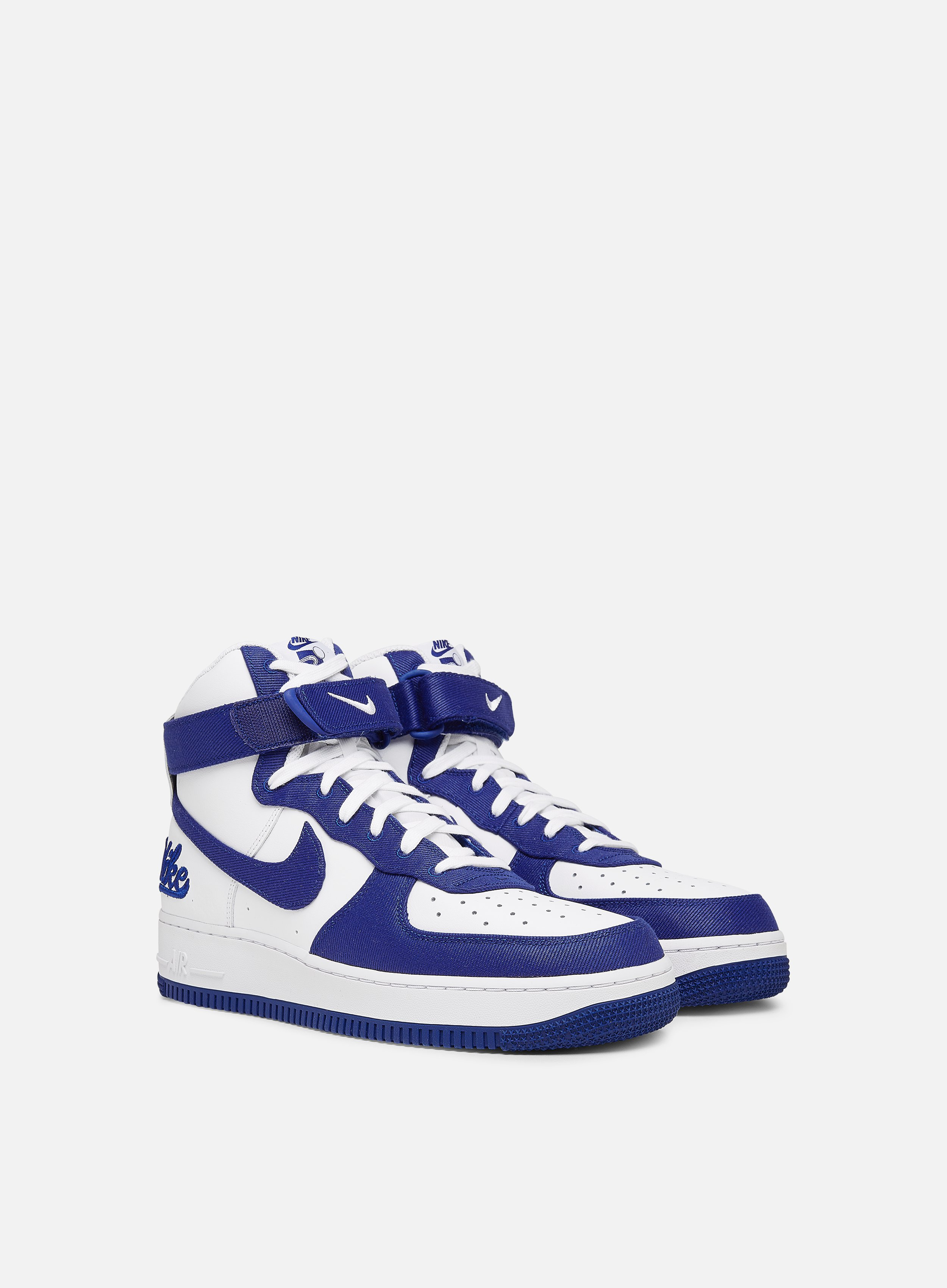 Nike Air Force 1 High 07 LV8 EMB Uomo, White Rush Blue Rush Blue ...