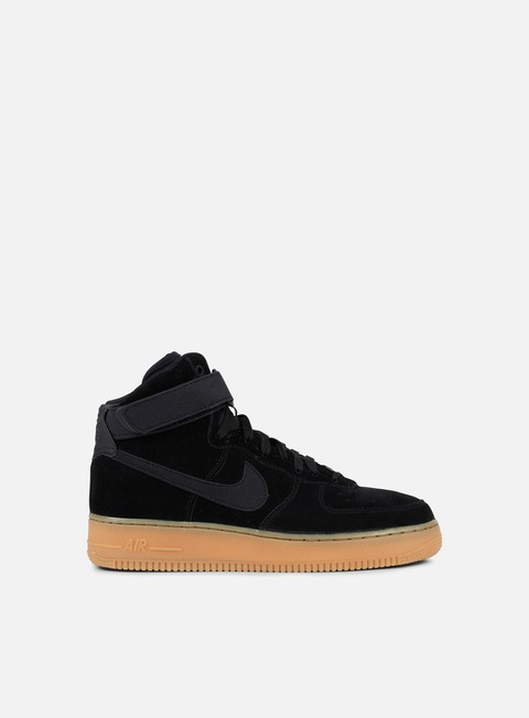 sneakers nike air force 1 high 07 lv8 suede black black gum medium brown