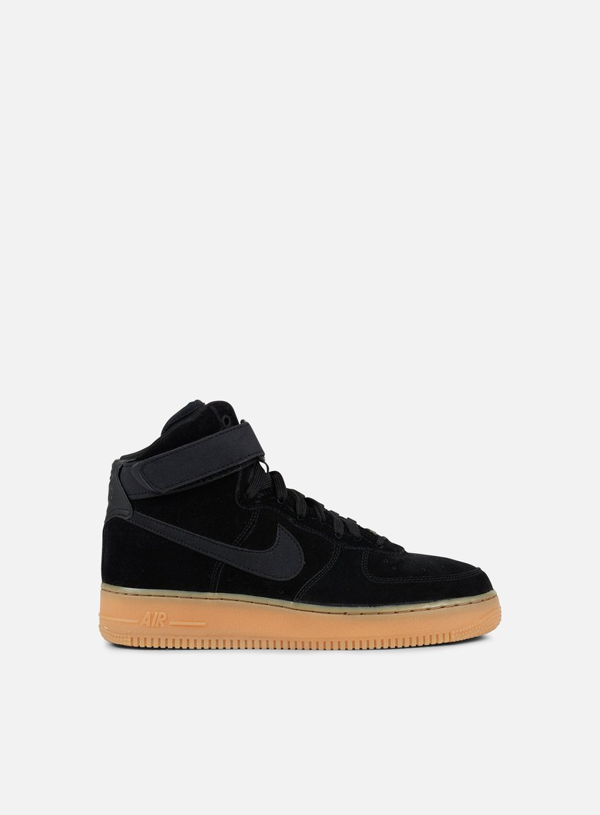Nike Air Force 1 High 07 LV8 Suede Uomo, Black Black Gum