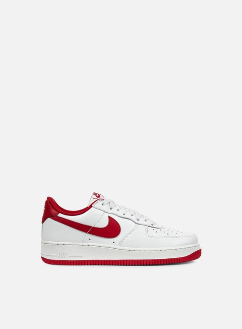 sneakers nike air force 1 low retro summit white university red