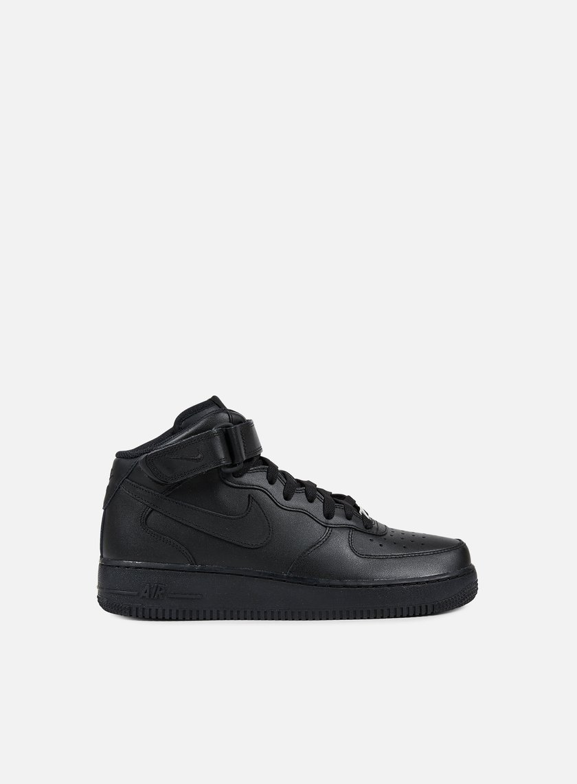 Nike - Air Force 1 Mid 07, Black/Black
