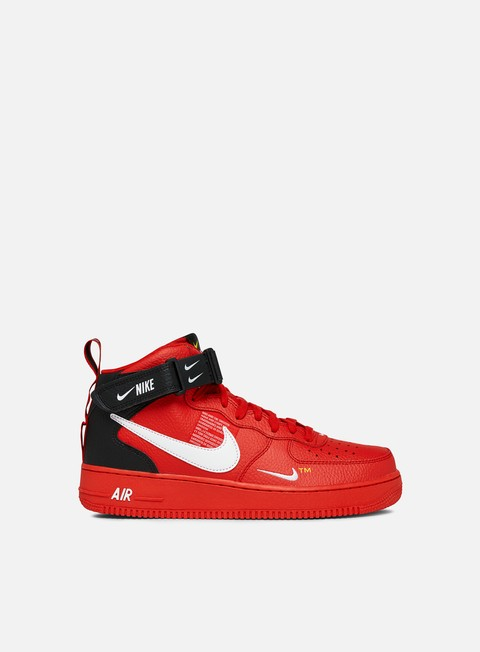 air force 1 alte bianche e rosse