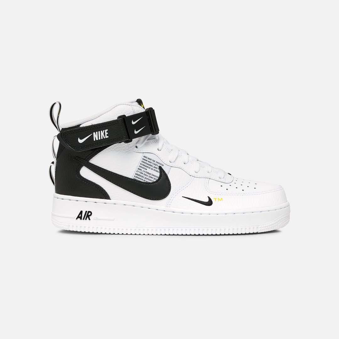 air force 1 uomo nere mid