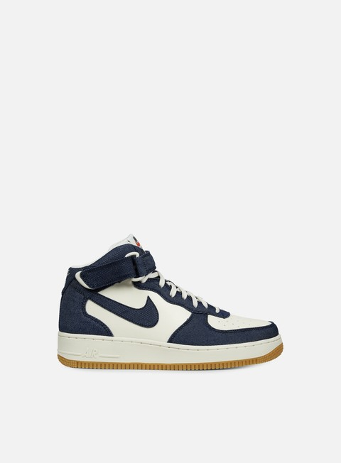 sneakers nike air force 1 mid 07 obsidian obsidian sail