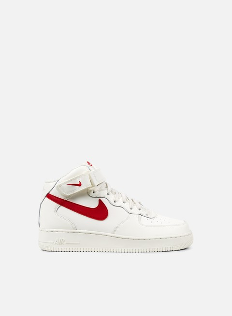 sneakers nike air force 1 mid 07 sail university red