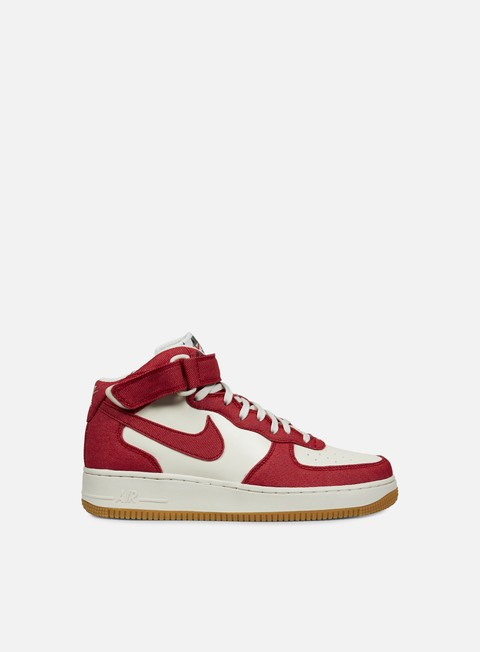 sneakers nike air force 1 mid 07 university red university red sail