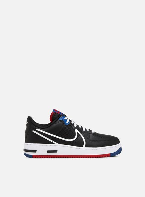 Nike Air Force 1 React, Black White Gym Red Gym Blue