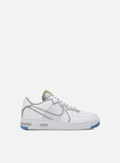Nike - Air Force 1 React, White/Light Smoke Grey/University Gold