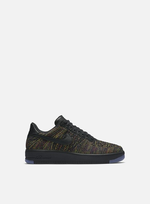 sneakers nike air force 1 ultra flyknit low black black bright crimson