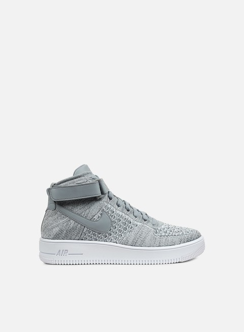 sneakers nike air force 1 ultra flyknit mid wolf grey wolf grey white