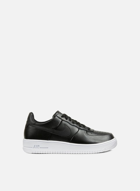 sneakers nike air force 1 ultraforce leather black black white