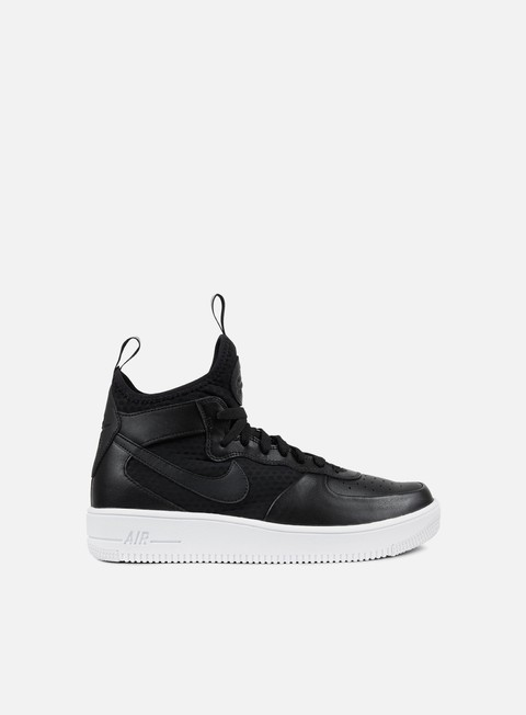 sneakers nike air force 1 ultraforce mid black black white
