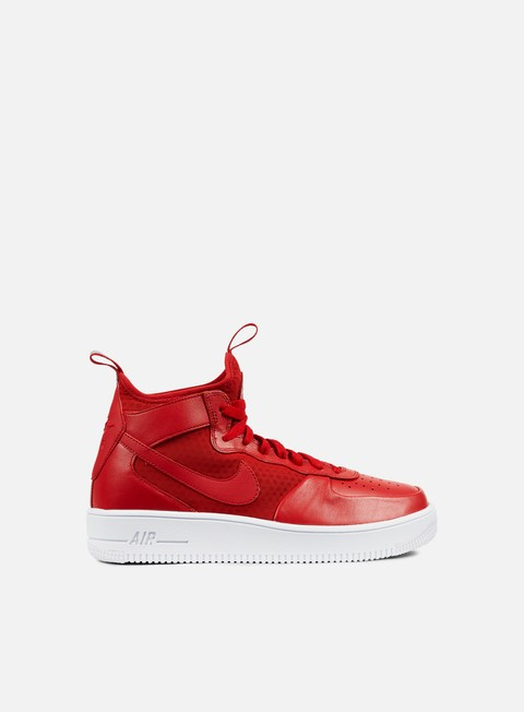 sneakers nike air force 1 ultraforce mid gym red gym red white