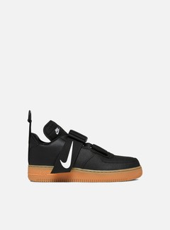 Nike - Air Force 1 Utility, Black/White/Gum/Med Brown