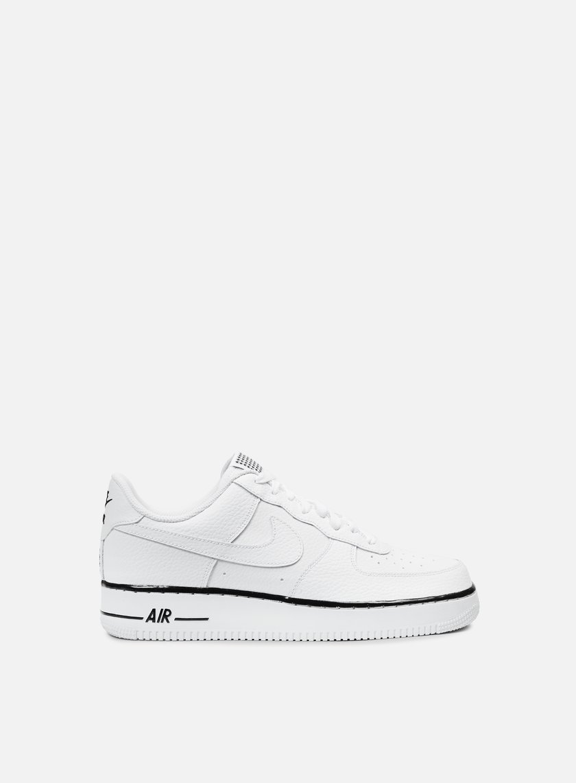 Nike - Air Force 1, White/White/Black