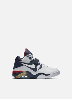 Nike - Air Force 180, White/White/Mid Navy 1