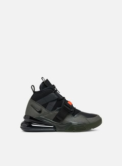 Nike - Air Force 270 Utility, Sequoia/Black/Habanero Red