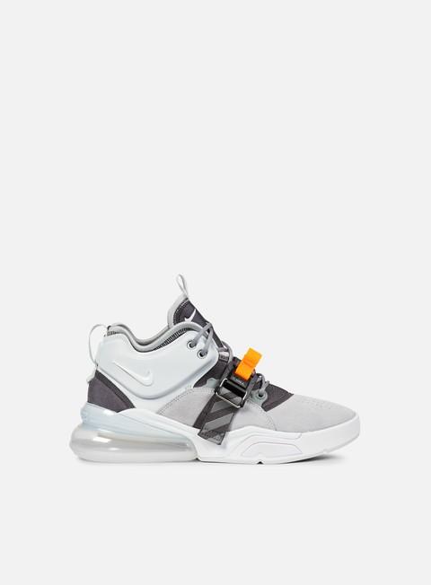 sneakers nike air force 270 wolf grey white dark grey