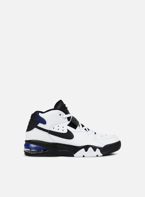 sneakers nike air force max 93 white black cobalt