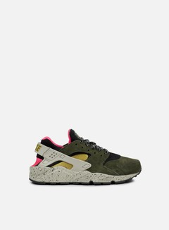 Nike - Air Huarache Run PRM, Black/Desert Moss/Solar Red