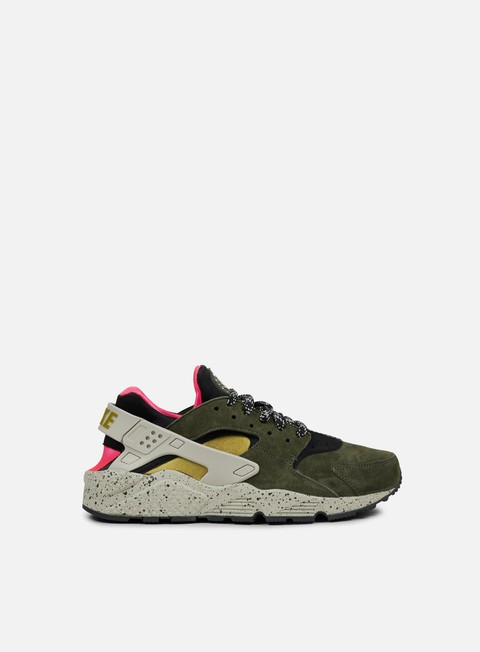sneakers nike air huarache run prm black desert moss solar red