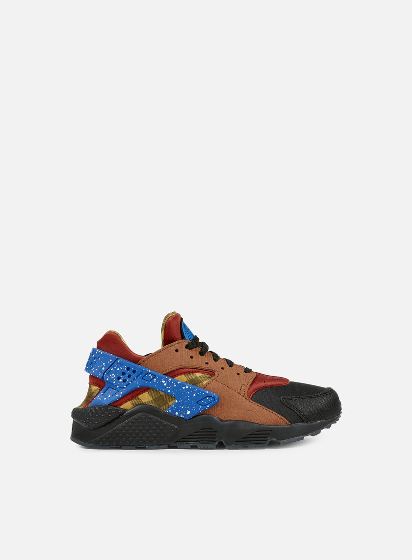 Nike - Air Huarache Run PRM, Dark Cayenne/Blue Spark/Black