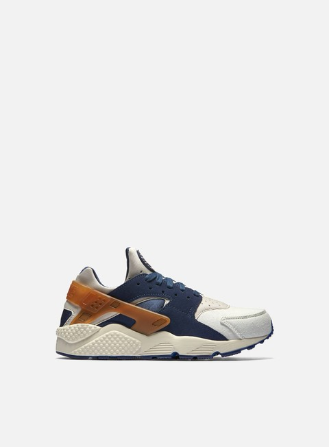 sneakers nike air huarache run prm sail mid navy ale brown