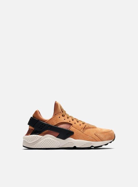 sneakers nike air huarache run prm wheat black light bone ale brown