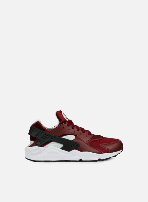 sneakers nike air huarache run team red black pure platinum