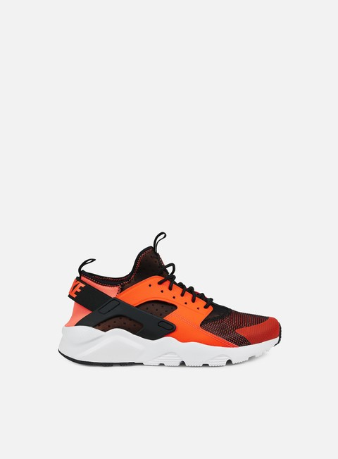 sneakers nike air huarache run ultra black total crimson white
