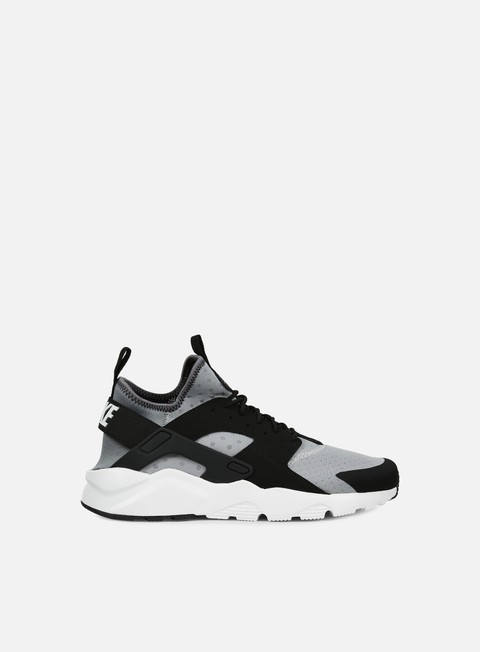 sneakers nike air huarache run ultra wolf grey white black